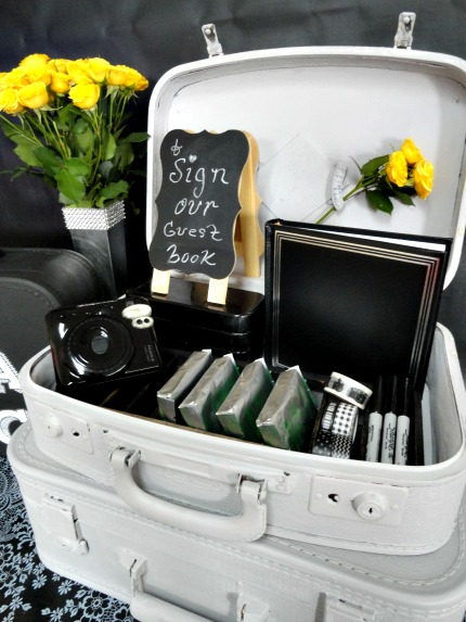 FolkArt® Home Decor™ Chalk Parisian Grey Suitcases via weddings.craftgossip.com