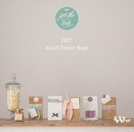 5 Beautiful DIY Kraft Favor Bags