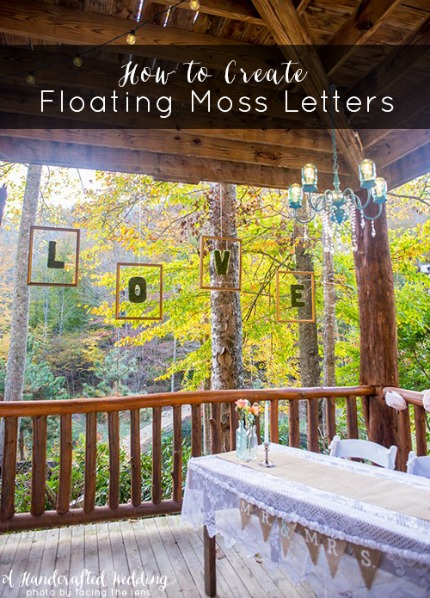 Floating Moss Letters Tutorial via A Handcrafted Wedding