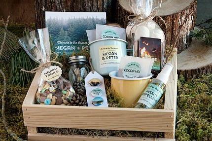 Forest Wedding Welcome Basket via evermine