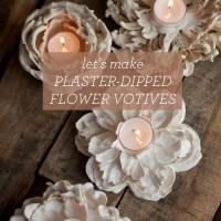 Plaster-Dipped Flower Votive Tutorial