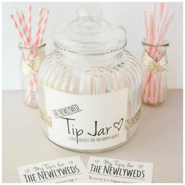 photo regarding Printable Tip Jar Signs identified as Totally free Printable: Idea Jar/Guestbook For Your Wedding day Working day Do-it-yourself