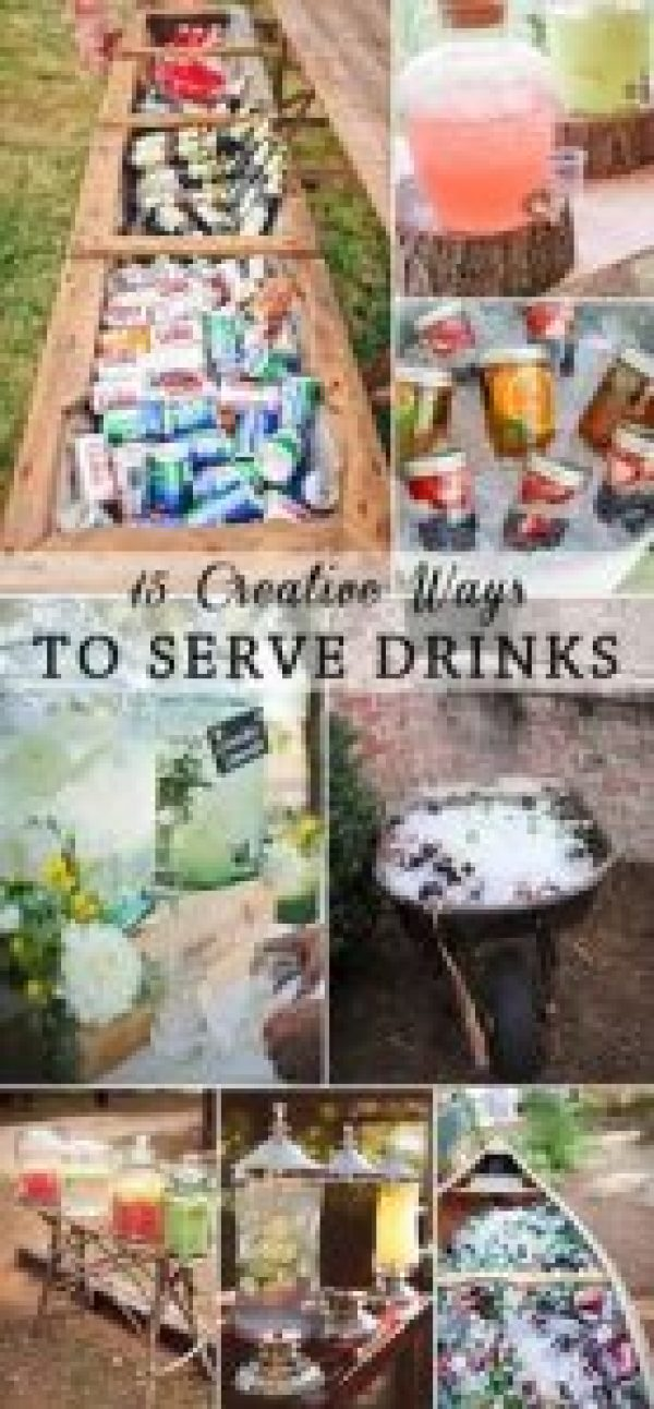 creative ways to serve drinks at a party