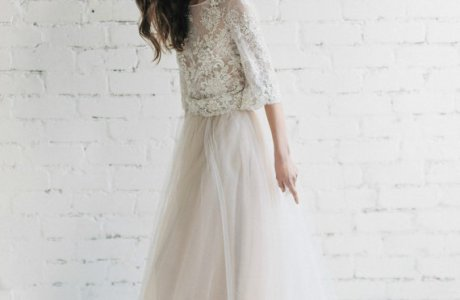Handmade Etsy – Two Piece Boho Wedding dress