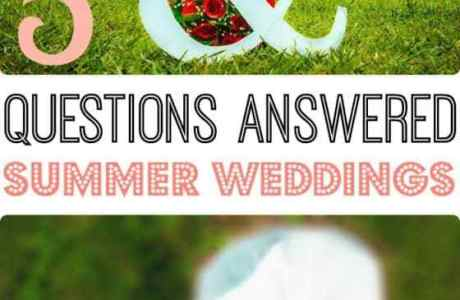 5 Summer Wedding Questions
