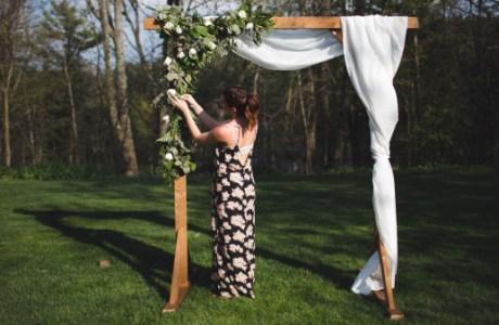 DIY Wedding Arbor