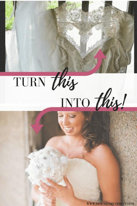 DIY Up-cycled Wedding Dress Bouquet