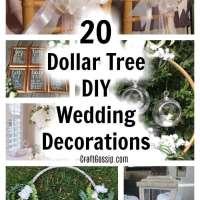 20 Dollar Tree Wedding Decorations You Can DIY