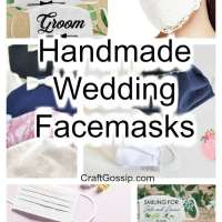 Handmade Bride and Groom Facemasks