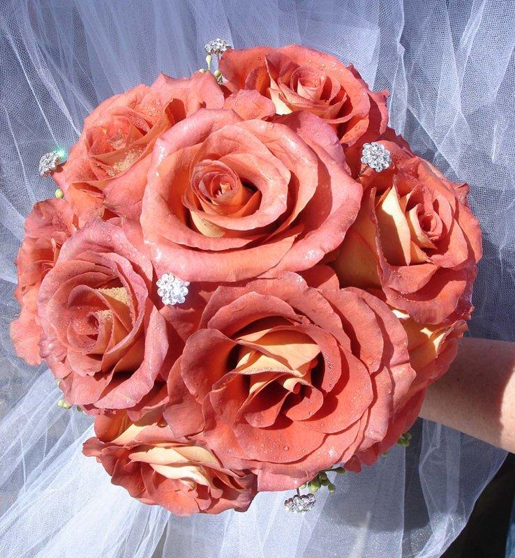 Bridal Bouquet with Jewels for Bradenton Wedding