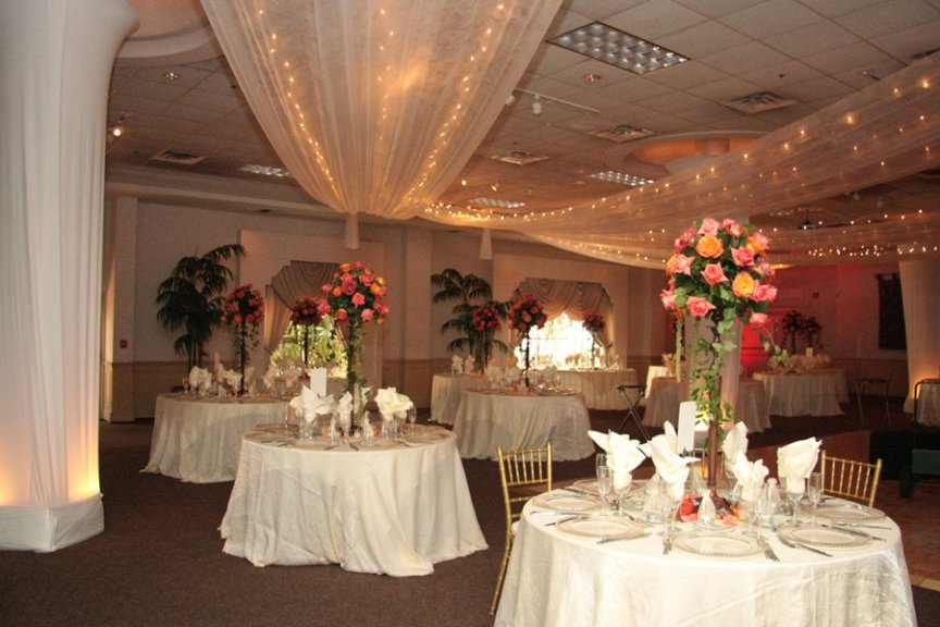 Wedding Flower Centerpieces at Michael's on the East Ballroom