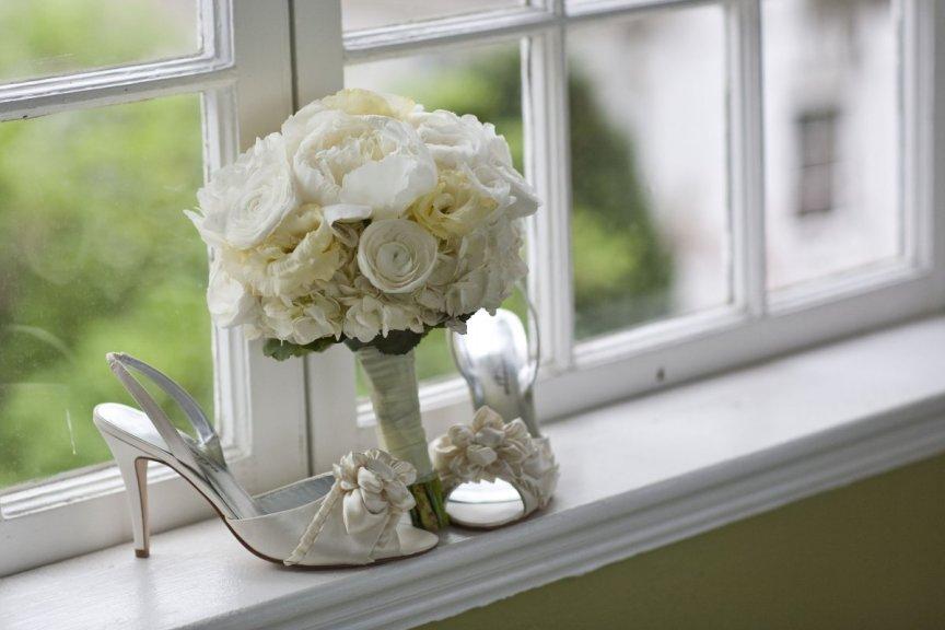 Selby Gardens Wedding Flowers: Hydrangea, Peonies, Ranunculus
