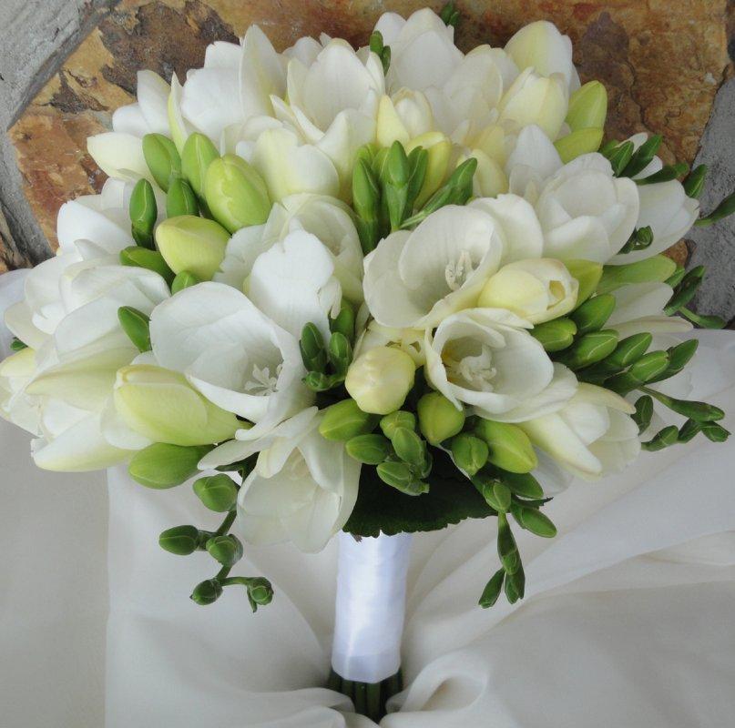 Wedding Flowers of White Freesia