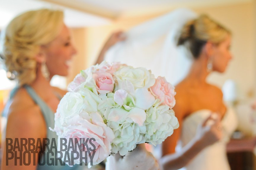 Wedding Bouquet, Bride and Bridesmaid, Ritz Carlton Sarasota