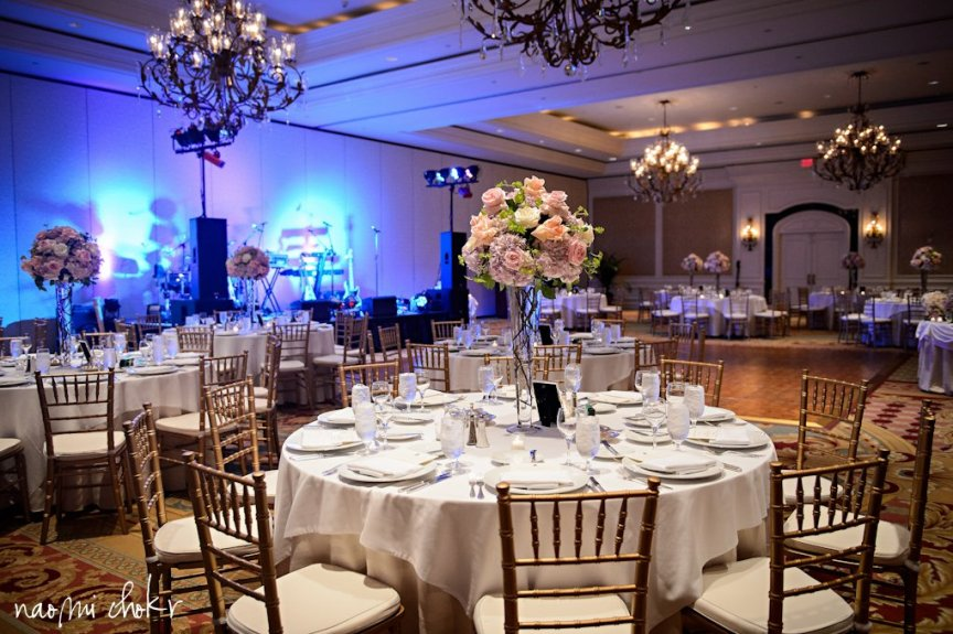 Ritz Carlton Sarasota Ballroom - Decorated with Floral Arrangements for Wedding