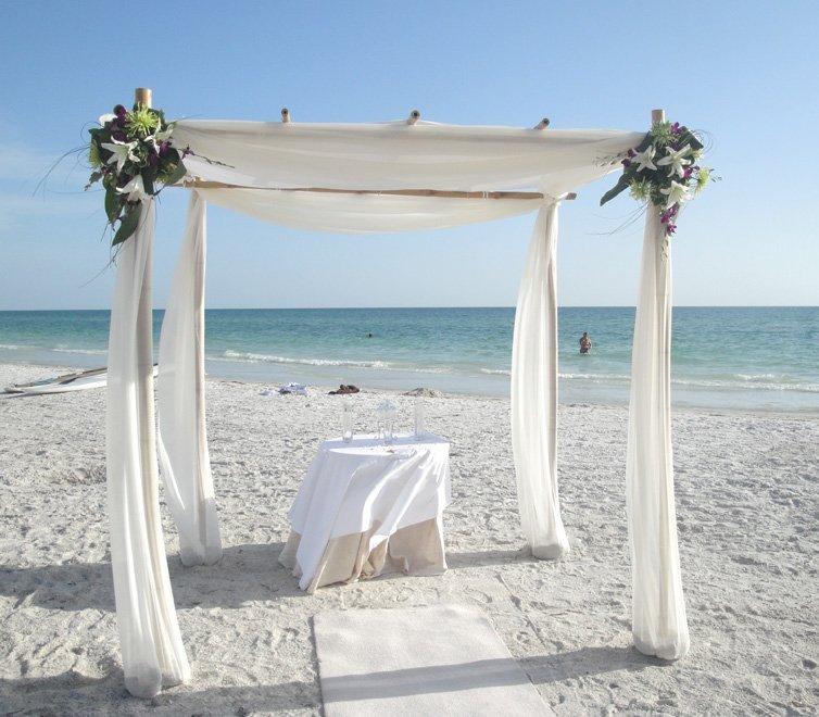 Tropical Beach Wedding in Sarasota Florida