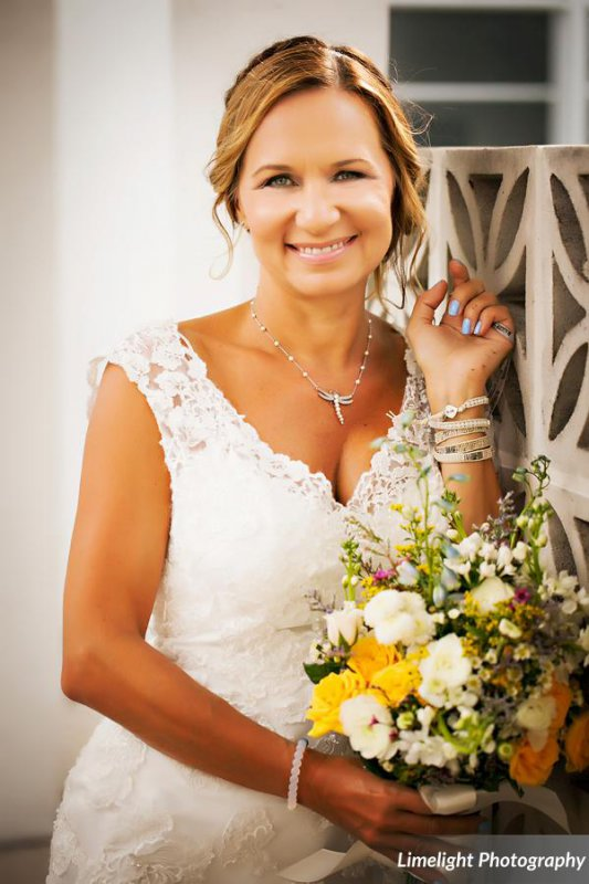 Bride with Wildflower Bouquet