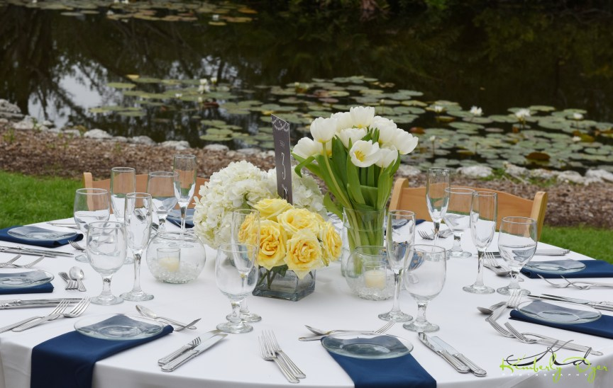 Stunning Blue and Yellow Table Composite