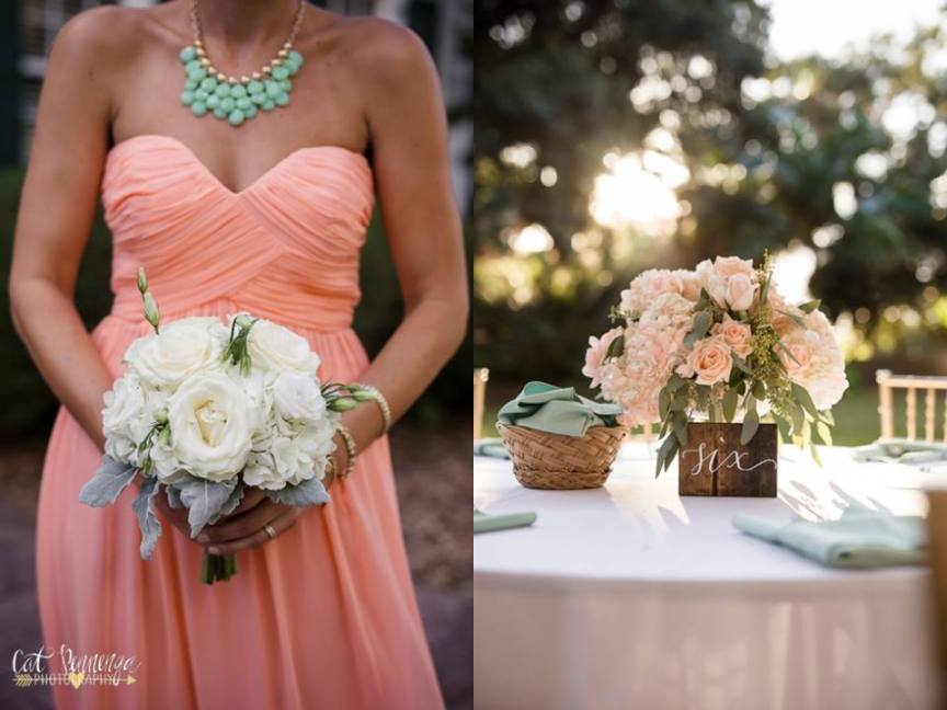 Bridal Bouquet and Reception Centerpiece