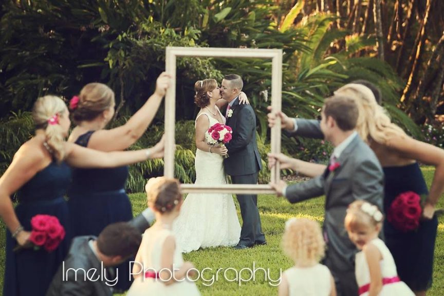 Colorful Navy Blue and Pink Wedding