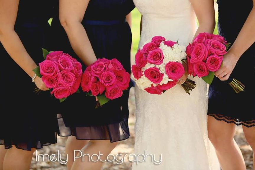 Colorful Navy Blue and Pink Wedding at Selby Gardens