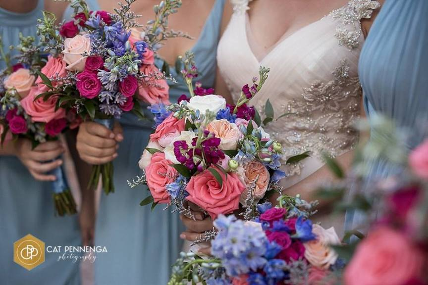 Garden Look Bridal Party Bouquets