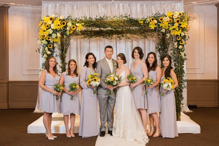 Wedding Party Under Chuppah