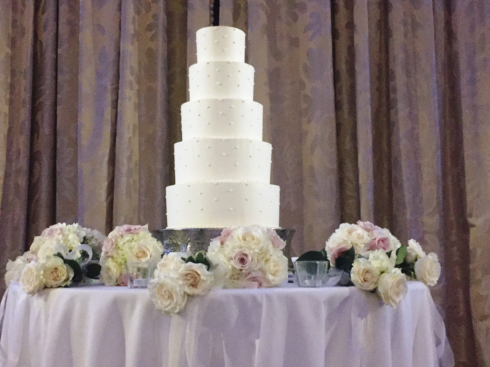 Wedding Cake with Flowers at the Base