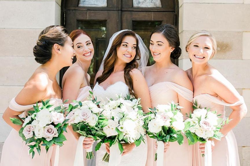 Bride and Bridesmaid's Bouquets
