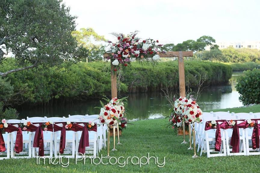 Colorful Longboat Key Wedding