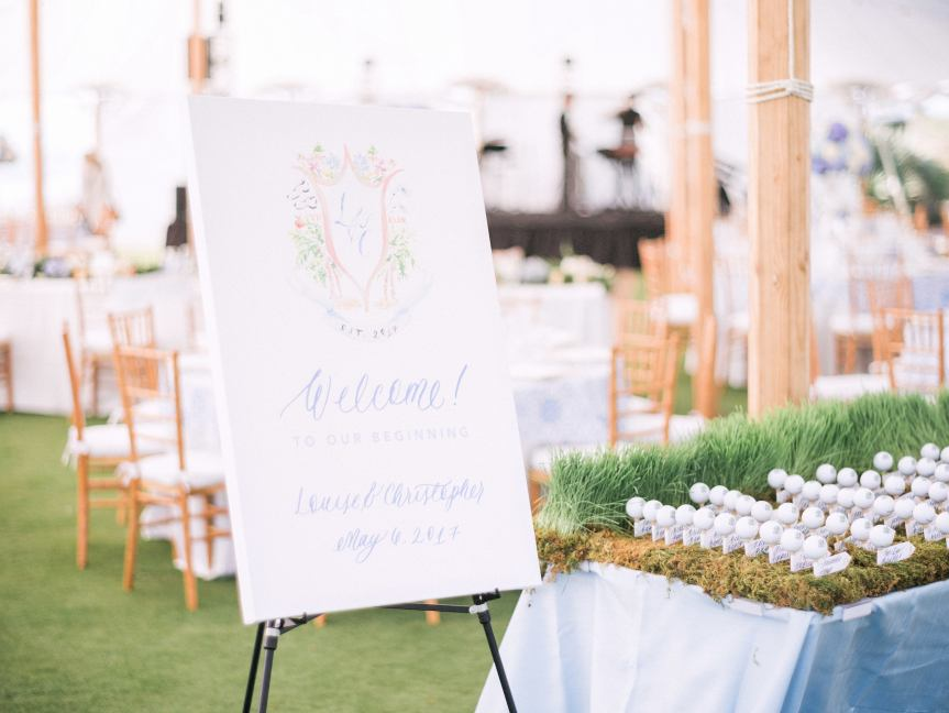 Place Card Tables with Golf Balls