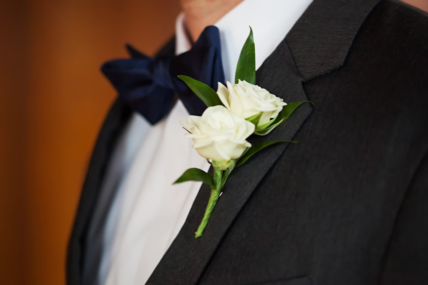 Double Spray Boutonniere for Groom