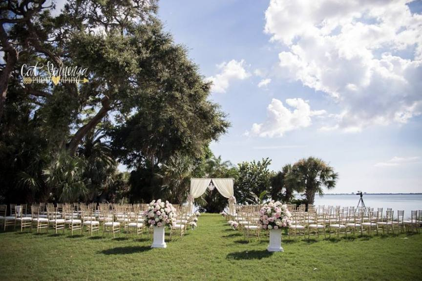 Ceremony Site on Powel Crosley Lawn