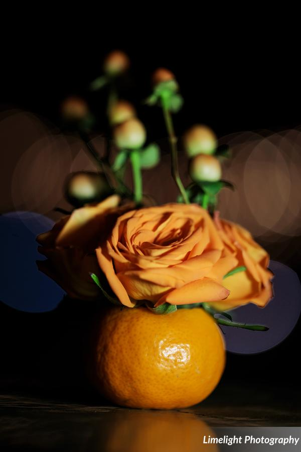 Orange with Flowers for Feasting Tables