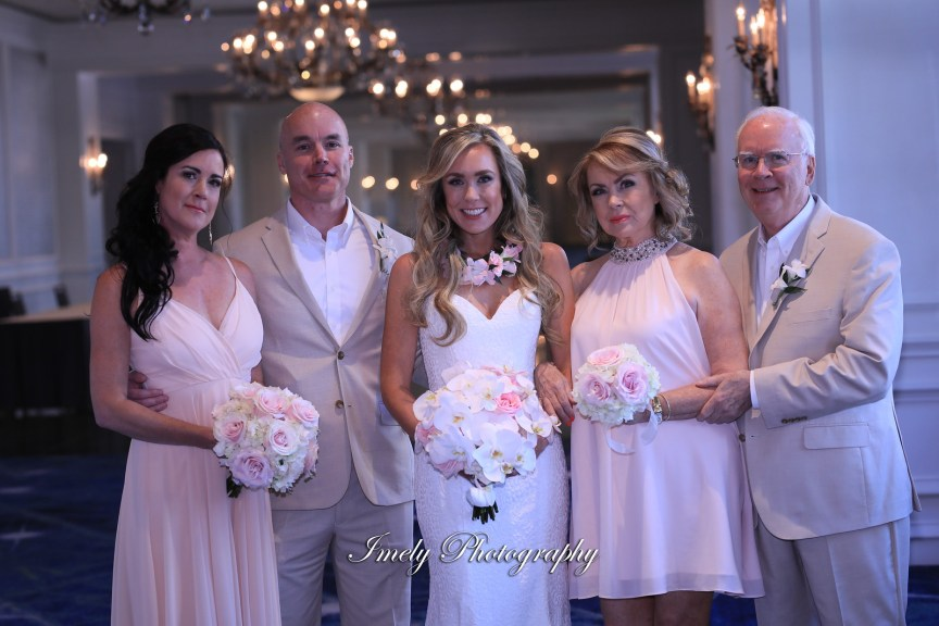 Bride with Mom, Maid of Honor, Dad, and Brother