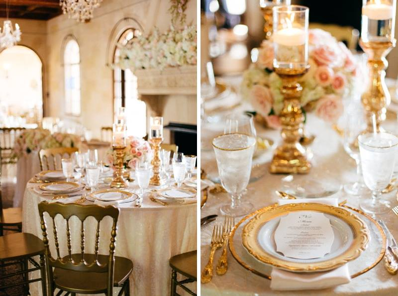 Low Arrangement Table Centerpiece and place setting
