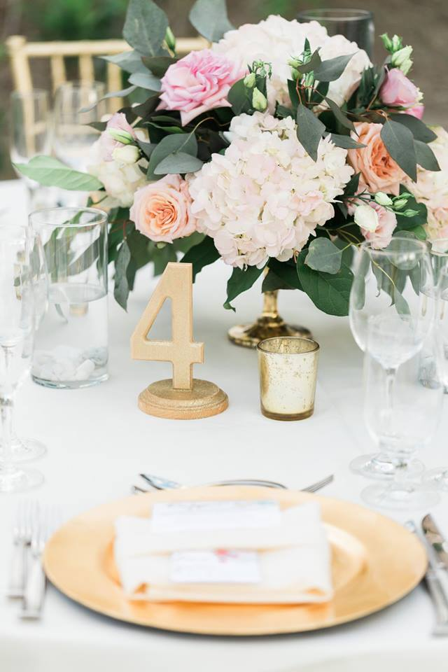 Close-Up of Guest Table Centerpiece