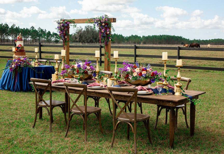 Reception Table at Heavenly Farms, Myakka City