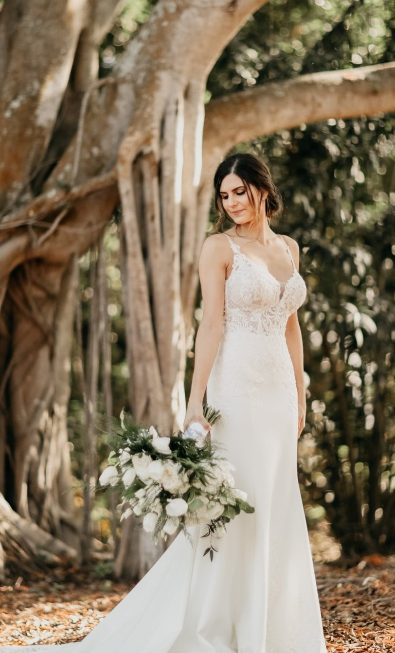 Bride with Bouquet Under Banyan Tree