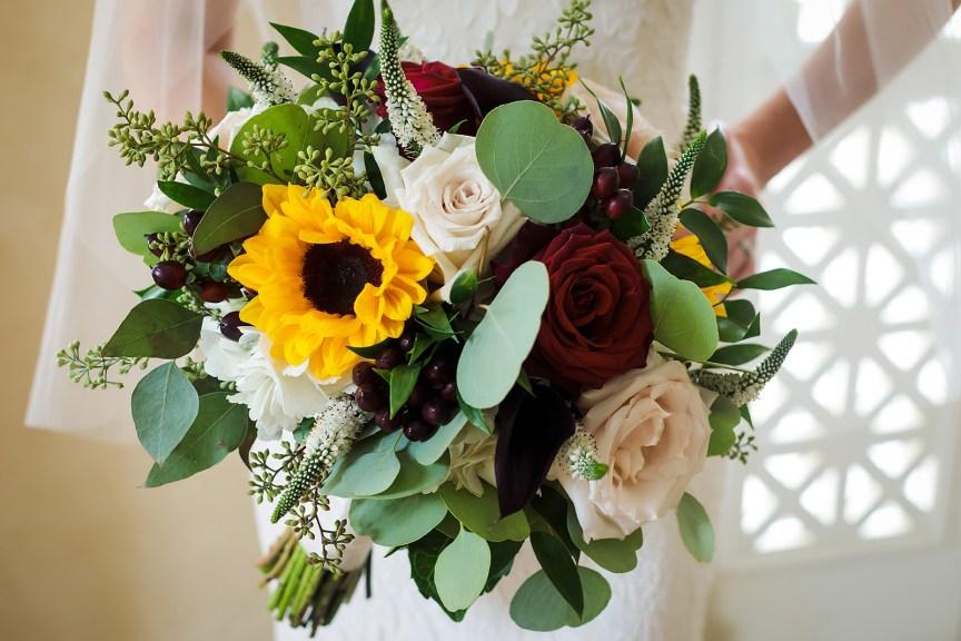 Close-Up of Bridal Bouquet
