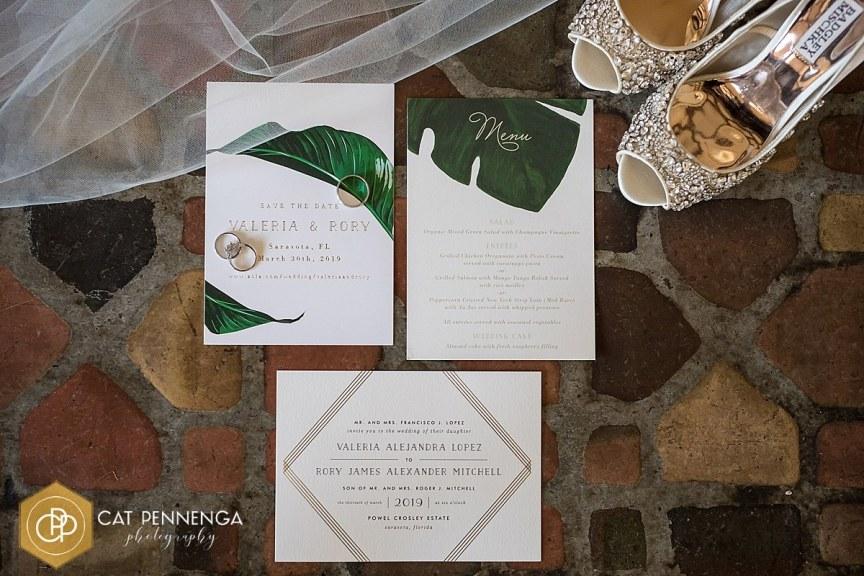 Wedding Invitation, menu, wedding shoes