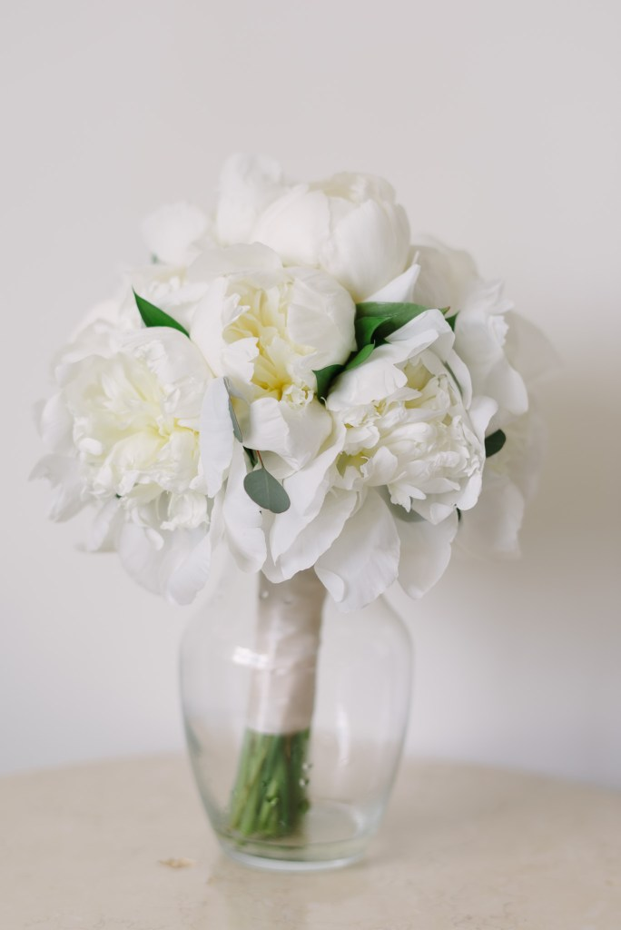 All-White Peonies Bridal Bouquet