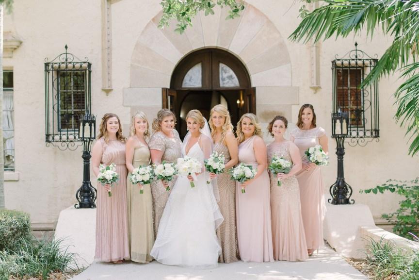 Bride with Bridal Party at Powel Crosley Estate