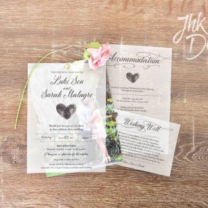 Vellum Wedding Set