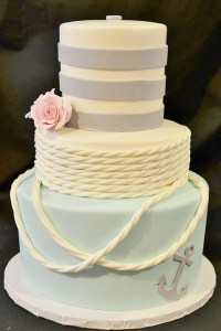 Nautical Wedding Cake - Kaleena Cakes - Penticton - BC - Bakery - Cup Cakes