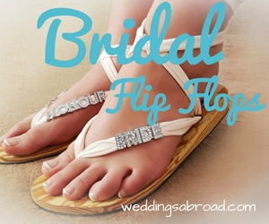 Bridal Flip Flops WeddingsAbroad.com Weddings Abroad Shop