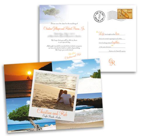 Postcard Save The Date Weddinginvitationdesigner Weddingsabroadguide