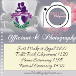 New Package Available through WeddingsbySonita.com