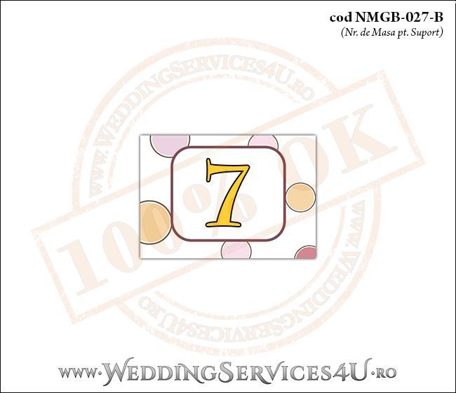 NMGB-027-B Numar de Masa pentru Botez cu buline colorate