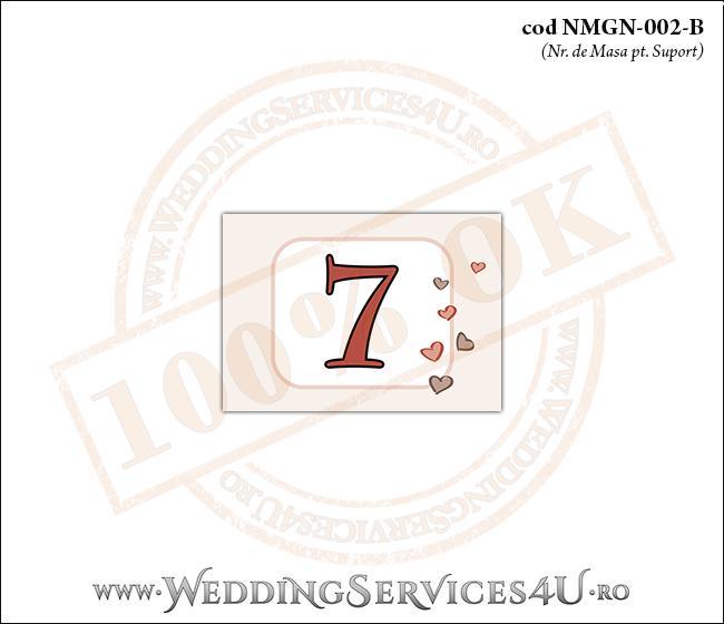 NMGN-002-B Numar de Masa pentru Nunta sau Botez cu inimioare